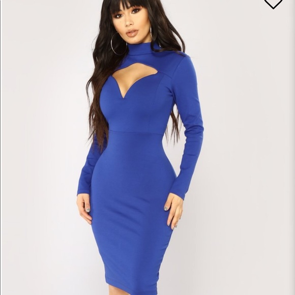 Fashion Nova Royal Blue Dress NWT